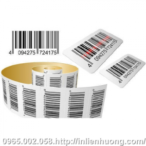 In decal barcode